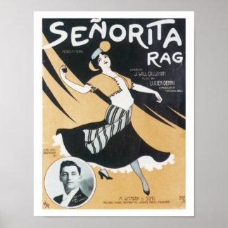 Song Senorita Rag Vintage Music Art Poster
