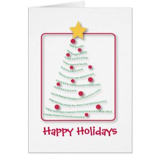 Song tree, Seasons Greetings, Happy Holidays Card