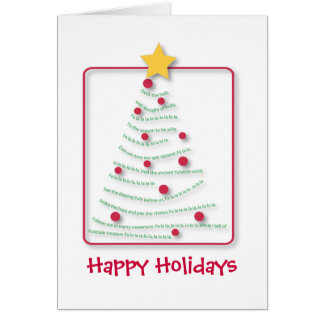 Song tree, Seasons Greetings, Happy Holidays Greeting Card