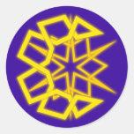 Sonne Mond sun moon Runde Sticker