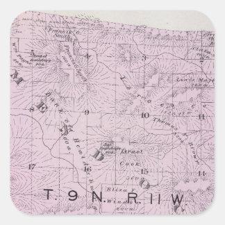 Sonoma County, California 11 Square Sticker