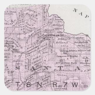 Sonoma County, California 12 Square Sticker