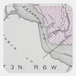 Sonoma County, California 13 Square Sticker