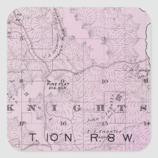 Sonoma County, California 17 Square Sticker