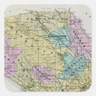Sonoma County, California 18 Square Sticker