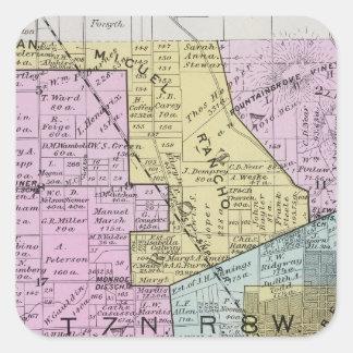 Sonoma County, California 27 Square Sticker