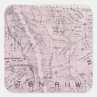 Sonoma County, California 4 Square Sticker