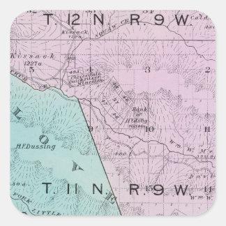 Sonoma County, California 6 Square Sticker