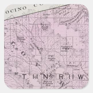 Sonoma County, California 7 Square Sticker