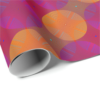 Sonoma Orange and Purple Wrapping Paper