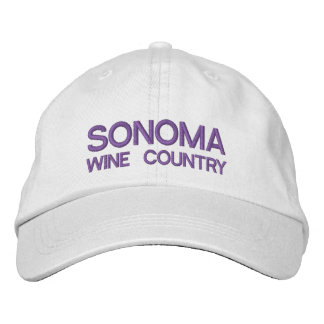 Sonoma wine Country Adjustable Hat Embroidered Hats