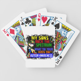 Sons Rock The Spectrum Autism Poker Cards
