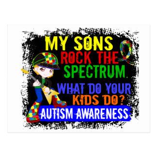 Sons Rock The Spectrum Autism Post Card
