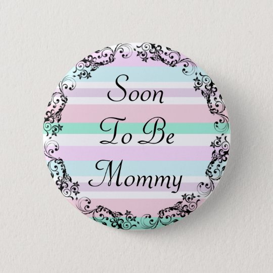 Soon to be Mummy Pastel Colours Button