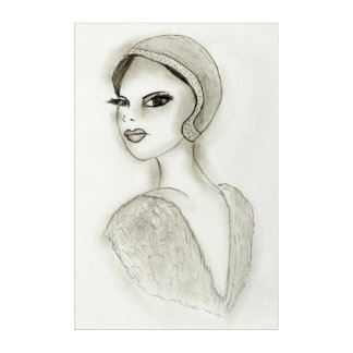 Sophisticated Flapper Acrylic Wall Art