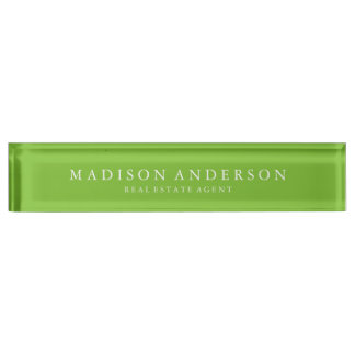 Sophisticated in Green | Desk Name Plate