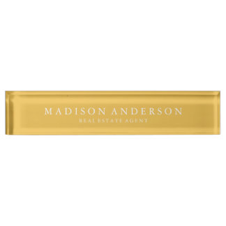 Sophisticated in Yellow | Desk Name Plate