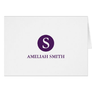 Sophisticated Monogram Personal-Business Notecards Card
