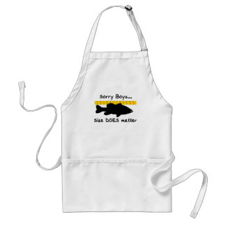 Sorry Boys.. Size does matter - funny bass fishing Adult Apron