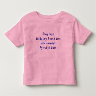 Sorry Boys - Toddler Fine Jersey T-Shirt
