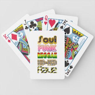 Soul, Funk, Reggae, Hip-Hop, Rave Bicycle Playing Cards