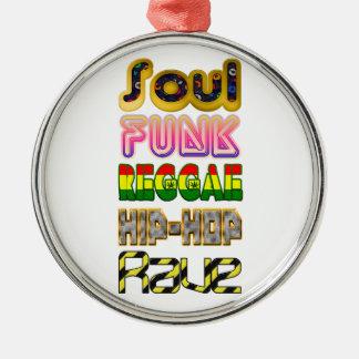 Soul, Funk, Reggae, Hip-Hop, Rave Christmas Ornament