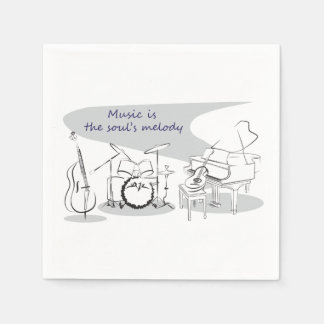 Soul Music Disposable Serviettes