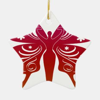 Soul Path Goddess Butterfly Ceramic Star Decoration