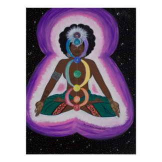 Soul Sista Meditating on the Chakras Poster