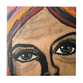 Soulful Eyes Small Square Tile