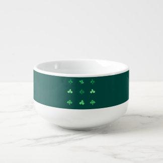 Soup mug with nine clover leaves