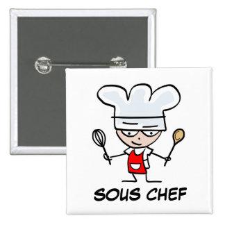Sous chef pinback button