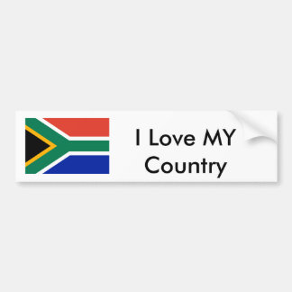South Africa Flag The MUSEUM  I Love MY Country Bumper Sticker