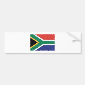 South Africa Flag Theme Bumper Sticker