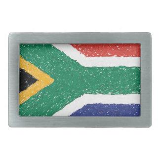 South Africa Flag Theme Rectangular Belt Buckles