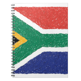 South Africa Flag Theme Spiral Notebook