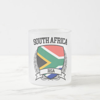 South Africa Frosted Glass Coffee Mug