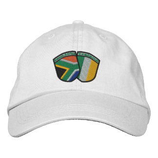 South Africa/Ireland Friendship Flag Badge Hat Embroidered Hats