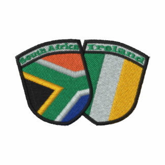 South Africa Ireland Friendship Flags Embroidered Embroidered Shirt