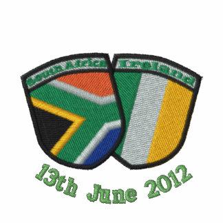 South Africa/Ireland Friendship Flags Shirt Embroidered Shirt