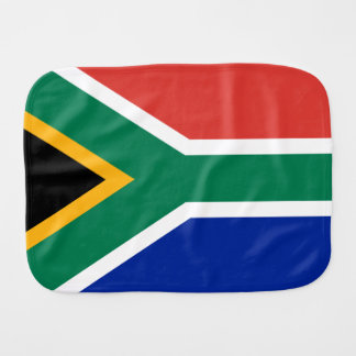 South African Flag of South Africa Burpee Burp Cloth