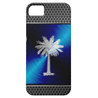 South Carolina brushed metal flag Case For The iPhone 5