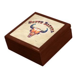 South Dakota Buffalo Skull Art Gift Box