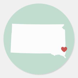 South Dakota Love - Customizable Sticker
