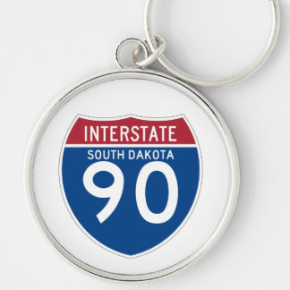 South Dakota SD I-90 Interstate Highway Shield - Key Ring