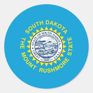South Dakota State Flag Design Classic Round Sticker