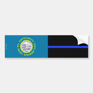 South Dakota Thin Blue Line Bumper Sticker
