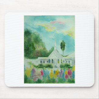South Georgia Country Church Watercolor Mouse Pads