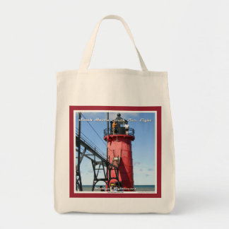 South Haven South Pier Light - Grocery Tote