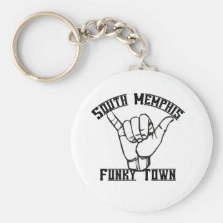 South Memphis Basic Round Button Key Ring
